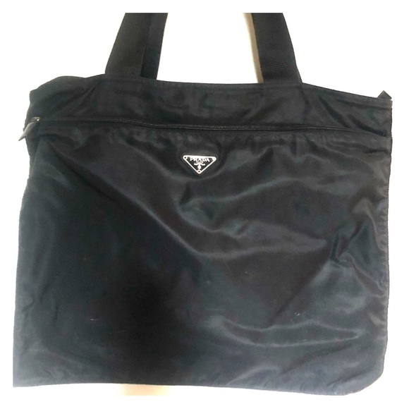 b8e56943c1 ... low cost prada tessuto nero black tote 4c3c9 13203